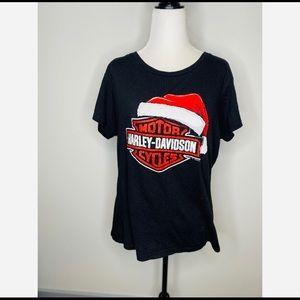 Harley Davidson Christmas T-Shirt Women's